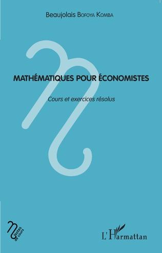 Couverture Mathématiques pour économistes
