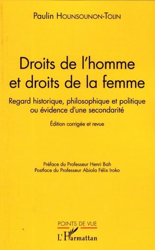 Couverture Droits de l'homme et droit de la femme