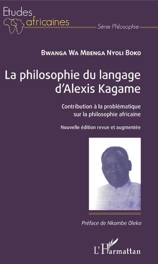 Couverture La philosophie du langage d'Alexis Kagame