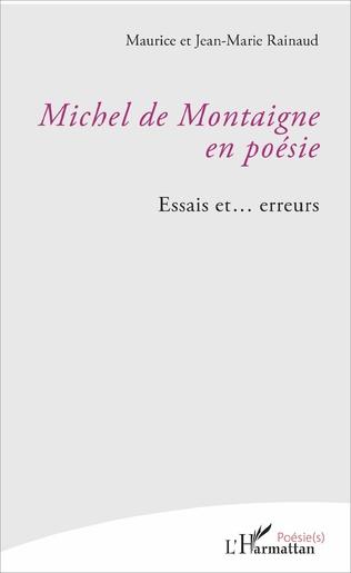 Couverture Michel de Montaigne en poésie