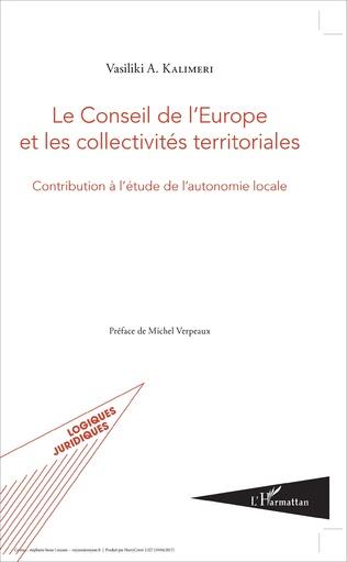 Couverture Le conseil de l'Europe et les collectivités territoriales