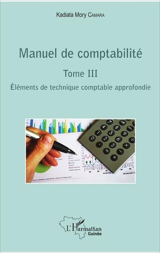 Couverture Manuel de comptabilité Tome III
