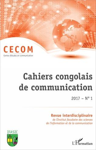 Couverture Cahiers congolais de communication 2017 N° 1