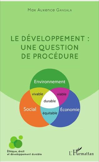 Couverture Le développement : une question de procédure