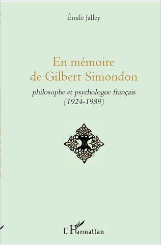 Couverture En mémoire de Gilbert Simondon