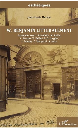 Couverture W. Benjamin littéralement