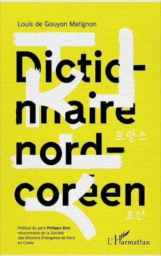 Couverture Dictionnaire nord-coréen