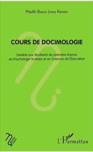 Couverture Cours de docimologie