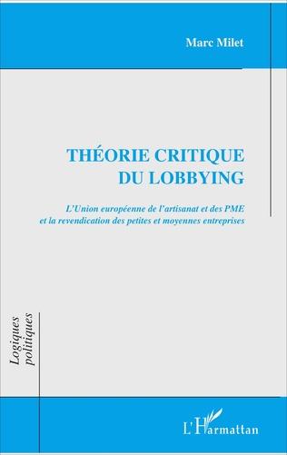 Couverture Théorie critique du lobbying