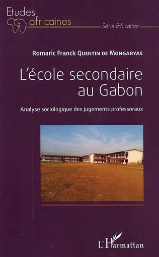 Couverture L'école secondaire au Gabon