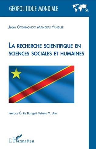 Couverture La recherche scientifique en sciences sociales et humaines