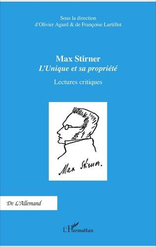 Couverture Max Stirner