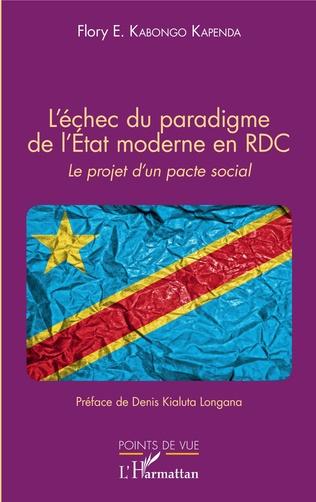 Couverture L'échec du paradigme de l'Etat moderne en RDC