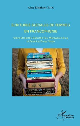 Couverture Ecritures sociales de femmes en francophonie