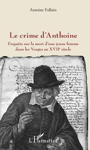 Couverture Le crime d'Anthoine
