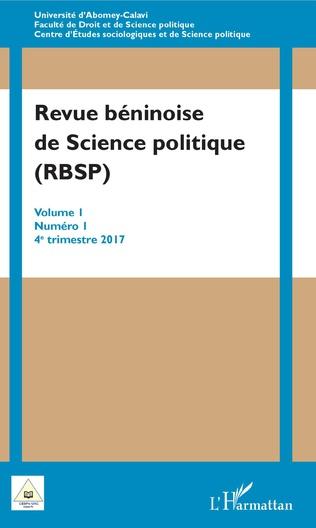 Couverture Revue béninoise de Science politique (RBSP)