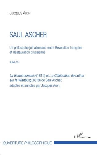 Couverture Saul Ascher