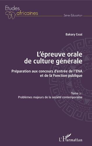 Couverture L'épreuve orale de culture générale Tome 2