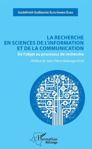 Couverture La recherche en sciences de l'information et de la communication