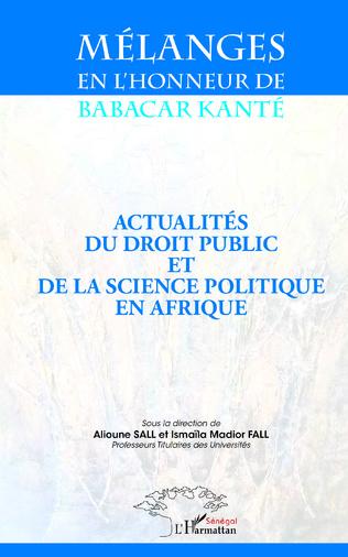 Couverture Mélanges en l'honneur de Babacar Kanté