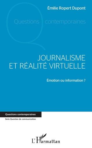 Couverture Journalisme et réalité virtuelle