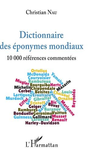 Couverture Dictionnaire des éponymes mondiaux