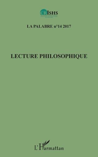 Couverture Lecture philosophique