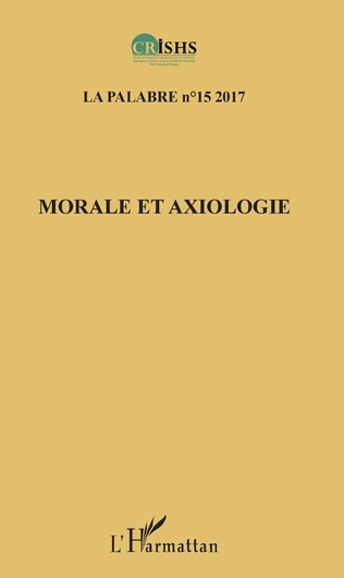 Couverture Morale et axiologie