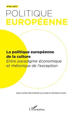 Couverture La politique européenne de la culture