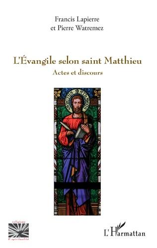 Couverture L'Evangile selon saint Matthieu