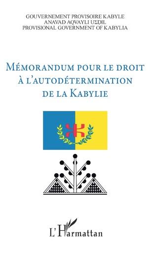 Couverture Mémorandum pour le droit à l'autodétermination de la Kabylie