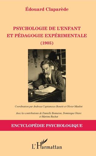 Couverture Psychologie de l'enfant et pédagogie expérimentale (1905)