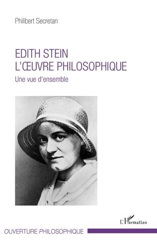 Couverture Edith Stein. L'oeuvre philosophique
