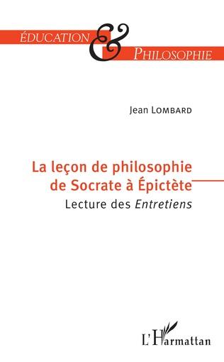 Couverture La leçon de philosophie de Socrate à Epictète