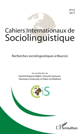 Couverture Recherches sociolinguistiques à Maurice