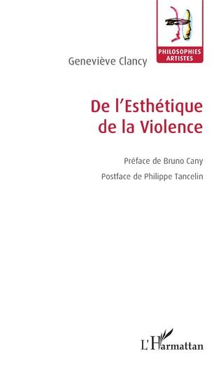 Couverture De l'Esthétique de la Violence