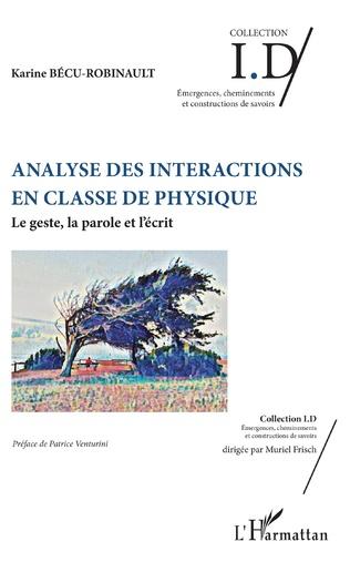 Couverture Analyse des interactions en classe de physique