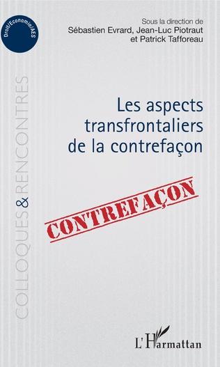 Couverture Aspects transfrontaliers de la contrefaçon