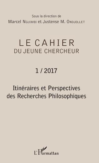 Couverture Itinéraires et perspectives des Recherches Philosophiques