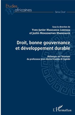 Couverture Droit, bonne gouvernance et développement durable