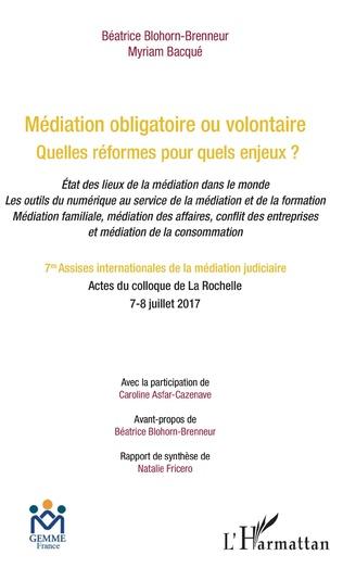 Couverture Médiation obligatoire ou volontaire