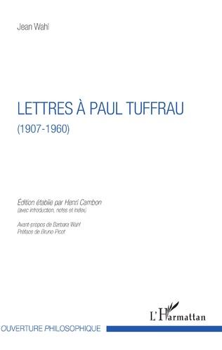 Couverture Lettres à Paul Tuffrau