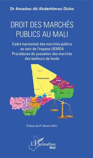 Couverture Droit des marchés publics au Mali