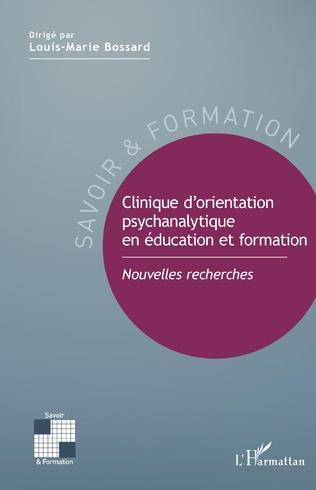 Couverture Clinique d'orientation psychanalytique en éducation et formation