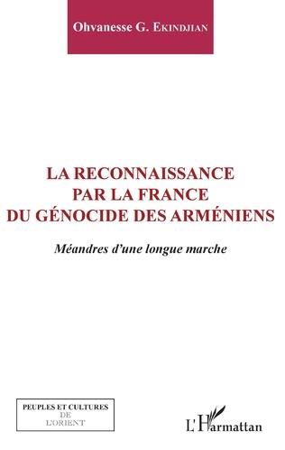 Couverture La reconnaissance par la France du génocide arménien