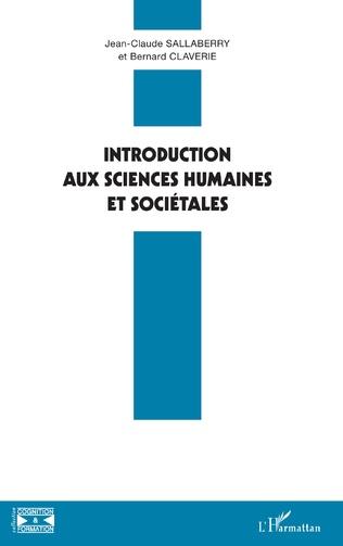 Couverture Introduction aux sciences humaines et sociétales