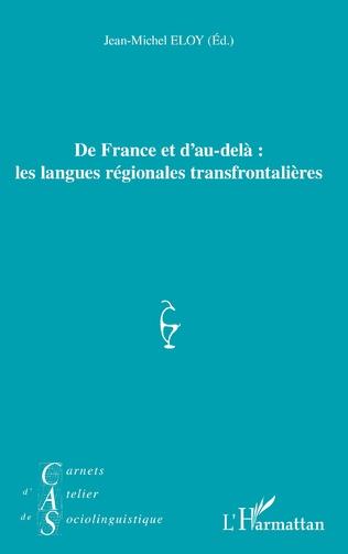 Couverture De France et d'au-delà : les langues régionales transfrontalières