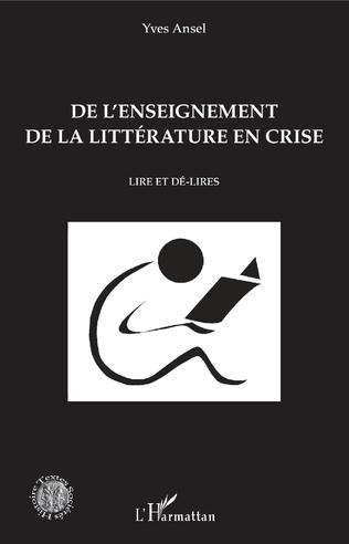 Couverture De l'enseignement de la littérature en crise