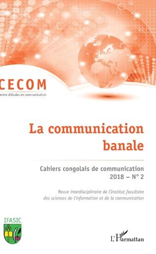 Couverture Cahiers congolais de communication 2018 N° 2