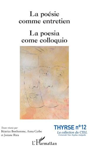 Couverture La poésie comme entretien
